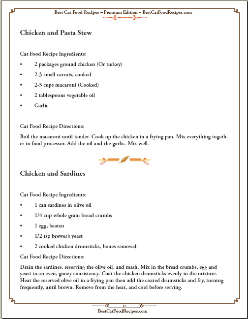 Cat food recipes cookbook bestcatfoodrecipes best cat food recipes cookbook sample page 12 forumfinder Images